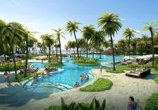 Hainan Qingshui Bay Outrigger Resort, main pool view